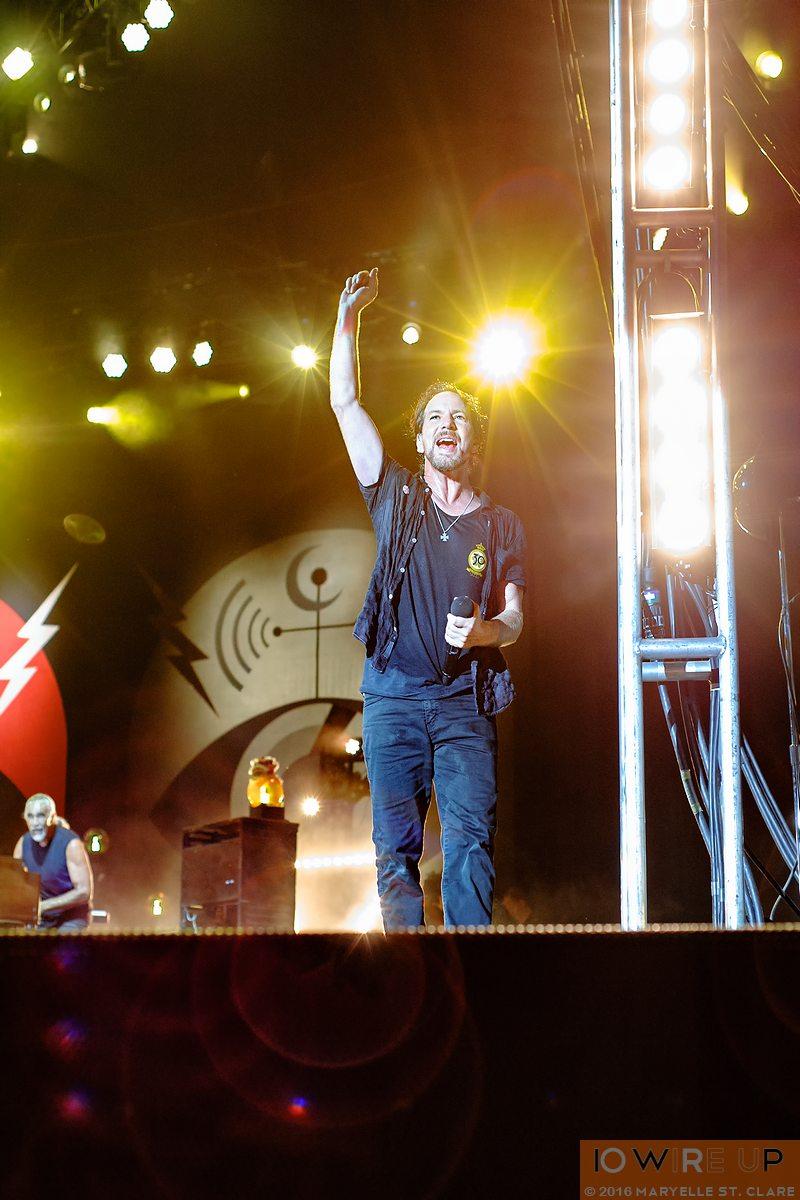 Pearl Jam at Bonnaroo. Manchester, TN. 11 Jun 2016.