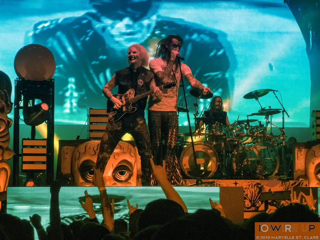 John 5 and Rob Zombie at Lakewood Amphitheatre, Atlanta, 6 May 2016