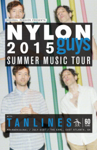 NYLON Magazine 2015 music tour with Tanlines