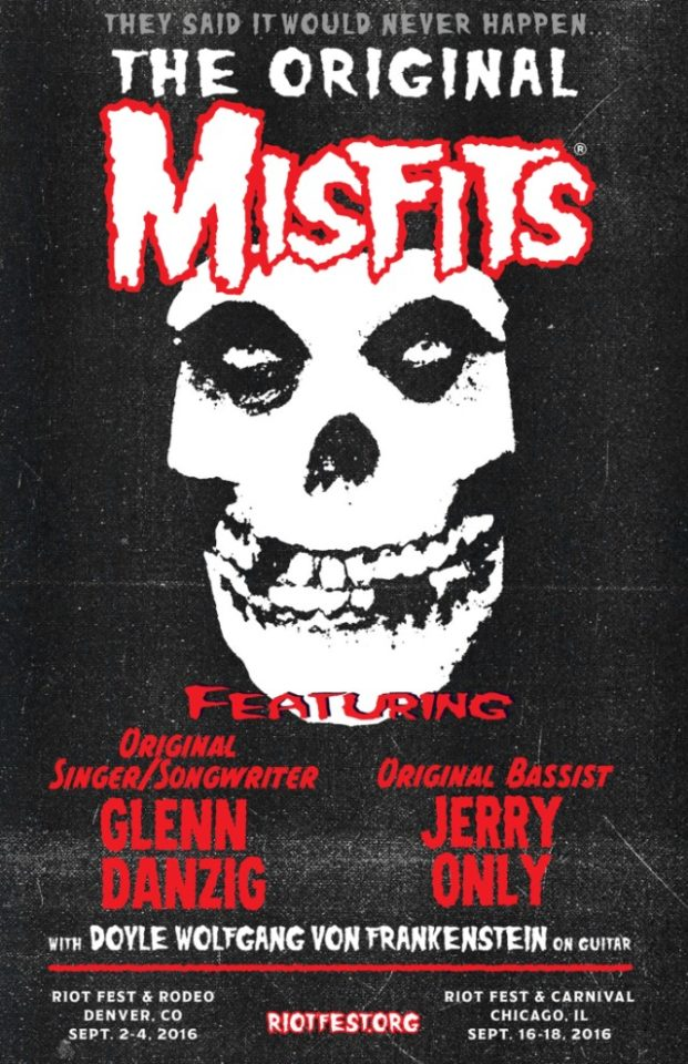 The Original Misfits at Riot Fest 2016. Photo: Misfits.