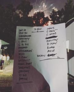 Pearl Jam setlist, Bonnaroo 2016.